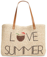 Style&Co. Style & Co Love Summer Straw Beach Bag, Only at Macy's