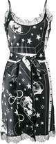 Philipp Plein skull print belted slip dress
