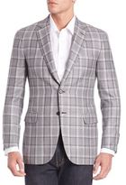 Brioni Wool & Silk Windowpane Sportscoat