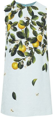 Oscar de la Renta Lemon-Print Shift Dress