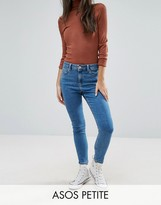 Asos RIDLEY Ankle Grazer Jeans in Lily Wash