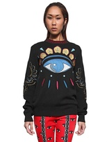Kenzo Embroidered Eye Wool Knit Sweater