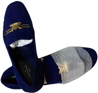 Louis Vuitton Blue Velvet Flats