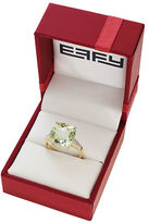 Effy Red Box Gallery 14K Yellow Gold Green Amethyst and Diamond Ring