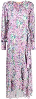 Melissa Odabash Floral-Print Long-Sleeved Maxi Dress