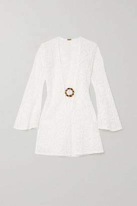 Dodo Bar Or Jane Crocheted Cotton Mini Dress - White