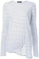 Bassike striped envelope neck T-shirt