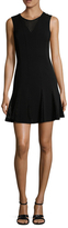 Nicole Miller Amber Eyelet Fit And Flare Dress