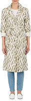 Raquel Allegra WOMEN'S ABSTRACT-PATTERN COTTON TRENCH COAT