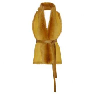 Karl Donoghue Yellow Suede Coat for Women