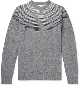 Sunspel Melange Wool-Jacquard Sweater