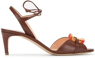 Rupert Sanderson Buckle Open-Toe Sandals