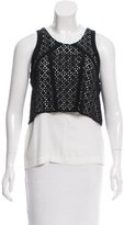 Maje Layered Eyelet Top