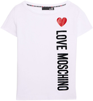 Love Moschino Printed Stretch-cotton Jersey T-shirt
