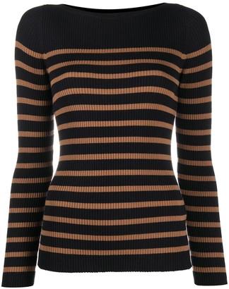 Seventy Ribbed Knit Stripe Jumper