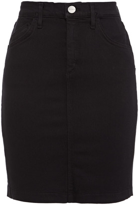 Gold Sign Denim Mini Skirt