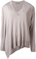 Cruciani asymmetric hem sweater - women - Cashmere/viscose - 42