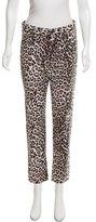 Rag & Bone Mid-Rise Leopard Print Jeans