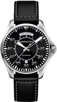 Hamilton Men's 'Khaki Aviation' Swiss Automatic Stainless Steel and Leather Casual Watch