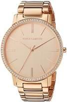 Vince Camuto Women's VC/5328RGRG Swarovski Crystal Accented -tone Bracelet Watch