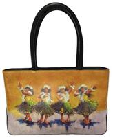 Sandal Tree Hawaii Leather Tote Bag