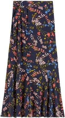 Banana Republic Petite Long Midi Wrap Skirt