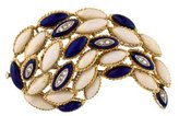 18K Diamond Enamel Brooch