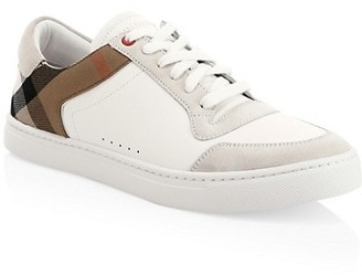 Burberry Reeth Check Detail Sneakers