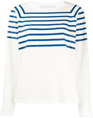 Philosophy di Lorenzo Serafini striped raglan sleeve top