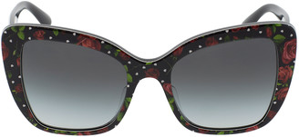 Dolce & Gabbana Rose Print Acetate Sunglasses