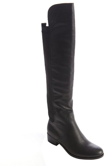 Charles by Charles David black leather and spandex knee high boots
