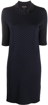 Emporio Armani Herringbone-Print Dress