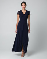 Le Château Chiffon V-Neck Maxi Dress