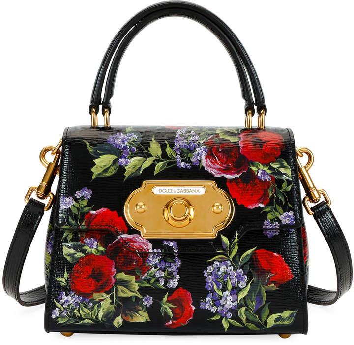 7569c492c25 Dolce & Gabbana Black Floral Print Handbags - ShopStyle