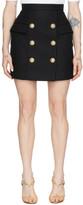 Balmain Black High-Waist 6-Button Miniskirt