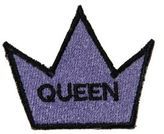 Logophile Embroidered Queen Crown Patch