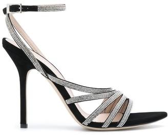 Pollini Crystal Strap Sandals