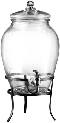 Jay Import Stylesetter Glass Beverage Dispenser with Metal Stand 2.6 Gallon Capacity