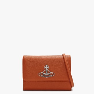 Vivienne Westwood Johanna Orange Vegan Cross-Body Wallet