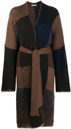 P.A.R.O.S.H. Patchwork Belted Cardi-Coat