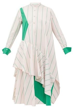 Palmer Harding Palmer//harding - Spicy Striped Cotton-poplin Shirt Dress - Womens - Pink Multi