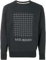 Saturdays NYC grid sweatshirt