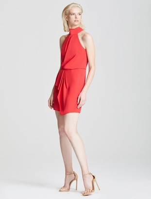 Halston Harlow Mock Neck Dress