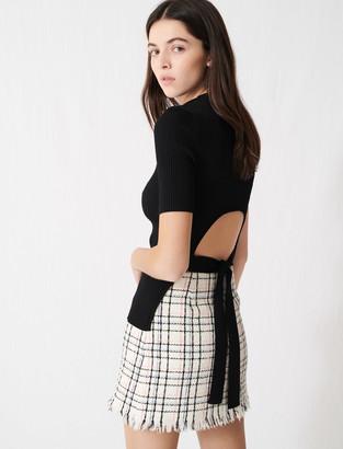 Maje Ribbed knit fine polo-neck jumper
