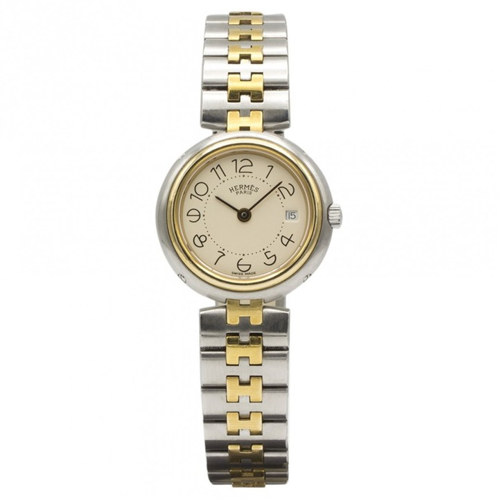 Hermes Vintage Gold gold and steel Watches