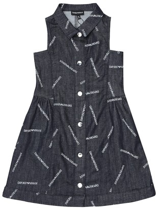 Emporio Armani Kids Logo stretch-denim dress