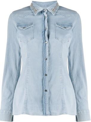 Dondup Embellished Collar Shirt