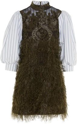Ganni feather Dress