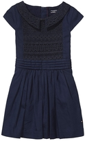 Tommy Hilfiger Final Sale- Th Kids Mixed Lace Dress
