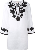 Tory Burch floral embroidery blouse - women - Cotton/Linen/Flax/Polyester - S